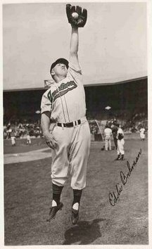 Eddie Bockman with the Indians in 1947